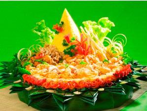 nasi tumpeng kuning lengkap